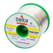 NC600 Qualitek No Clean Delta Lead Free Solder Wire SAC305 Alloy 1.27mm 2.2% Flux 500G