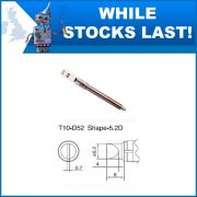 T10-D52  5.2mm Straight Chisel Soldering Iron Tip
