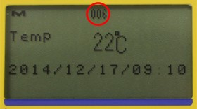 Automatic counting of the number of measurements