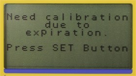 Notification of the calibration date