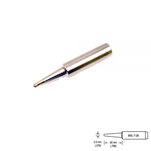 900L-T-2B Conical Soldering Tip R1mm x 20mm