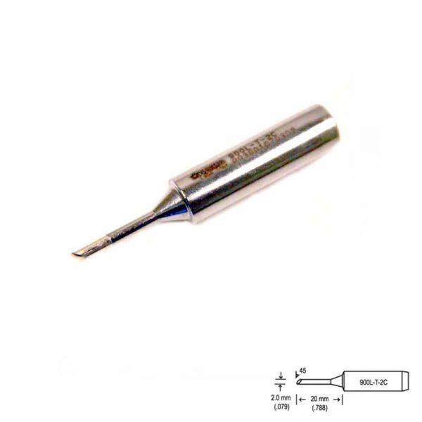 900L-T-2C Bevel Soldering Tip 5mm/45° x 15mm