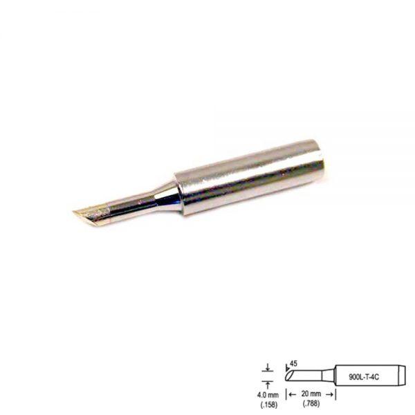 900L-T-4C Bevel Soldering Tip 4mm/45° x 20mm