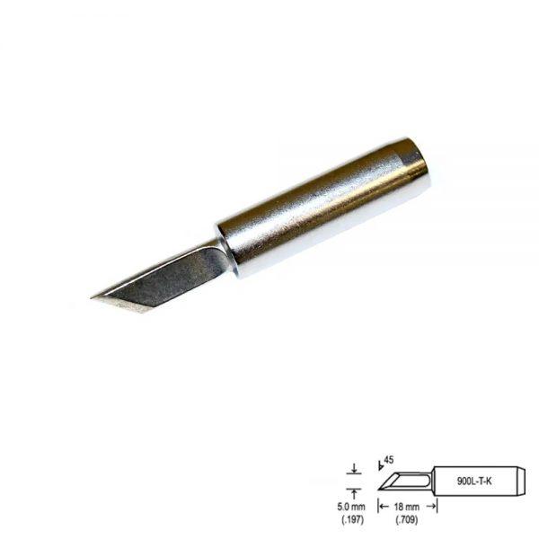 900L-T-K Knife Soldering Tip 5mm  /45° x 18mm