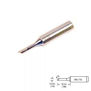 900L-T-3C Bevel Soldering Tip 3mm/45° x 20mm