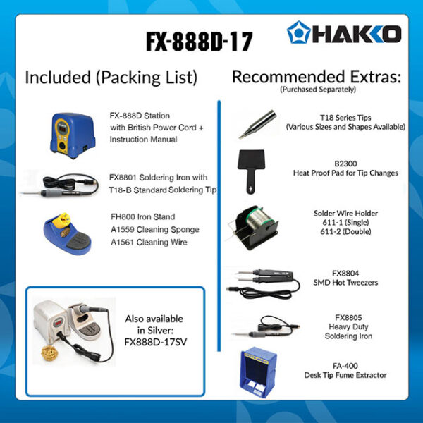 FX-888D Digital Soldering Station Blue/yellow