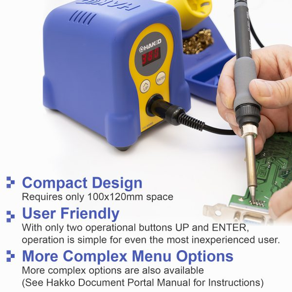 FX888D-17BY Blue/yellow Digital Soldering Station