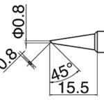 HAKKO T18-C08 Bevel Tip