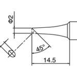 T18-CF2 Bevel Tip