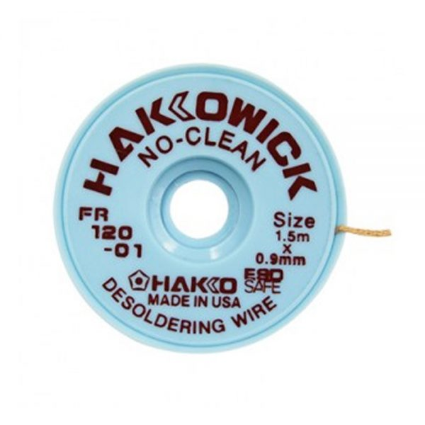 Hakko WICK No Clean 0.9mm x 1.5m Desolder braid