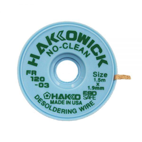 Hakko WICK No Clean 1.9mm x 1.5m Desolder braid