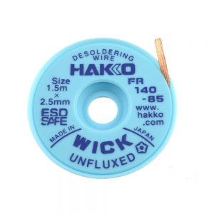 HAKKO WICK Unfluxed 2.5mm x 1.5m Desolder braid