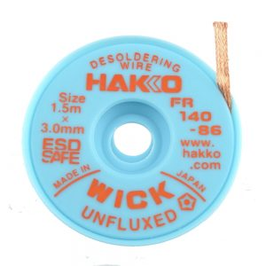 HAKKO WICK Unfluxed 3.0mm x 1.5m Desolder braid
