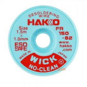 Hakko WICK No Clean  1.0mm x 1.5m Desolder braid