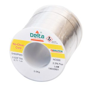 NC600 Qualitek No Clean Delta Solder Wire 0.71mm Tin 60/40 Lead Alloy 2.2% Flux 500G