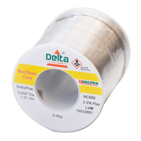 NC600 Qualitek No Clean Delta Solder Wire 1.27mm Tin 60/40 Lead Alloy  2.2% Flux 500G