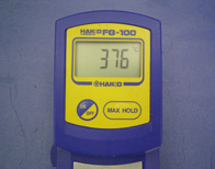 Read the displayed values and repeat the items 1 through 4. Check the maximum temperature.