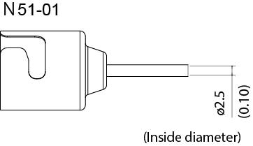 N51-01 Single Hot Air Nozzle, 2.5mm