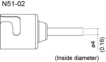 N51-02 Single Hot Air Nozzle, 4.0mm for FR-810