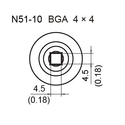 N51-10 BGA Hot Air Nozzle, 4 x 4 mm