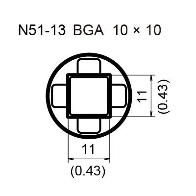 N51-13 BGA Hot Air Nozzle, 10 x 10 mm