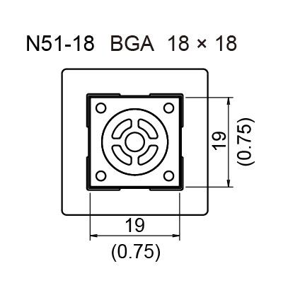 N51-18 BGA Hot Air Nozzle, 18 x 18 mm