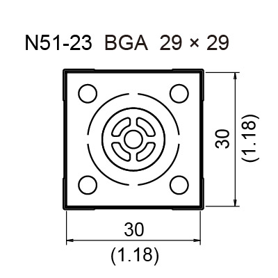 N51-23 BGA Hot Air Nozzle, 29 x 29 mm