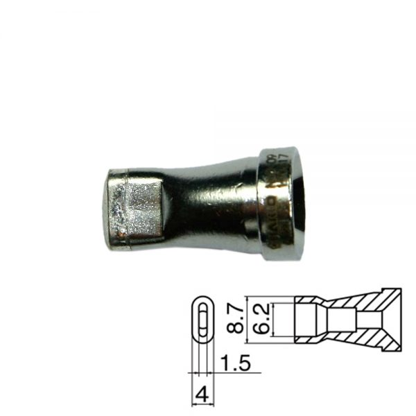N60-09 Desoldering Nozzle 6.2x1.5mm