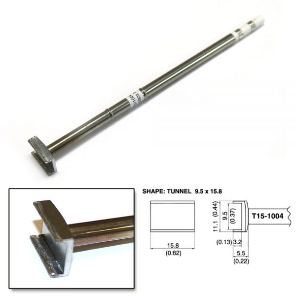 T15-1004 SMD Tunnel Soldering Tip 15.8mm x 11.1mm