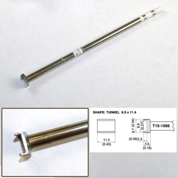 T15-1006 SMD Tunnel Soldering Tip 11.4mm x 8.7m