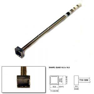 T15-1202 SMD Quad Soldering Tip 10.3mm x 10.3mm x 5.5mm