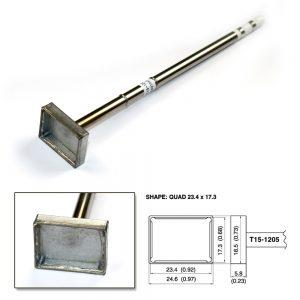 T15-1205 SMD Quad Soldering Tip 23.4mm x 17.3mm x 7.3mm