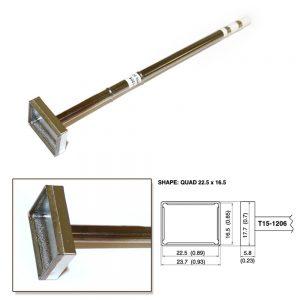 T15-1206 SMD Quad Soldering Tip 22.5mm x 16.5mm x 7.3mm