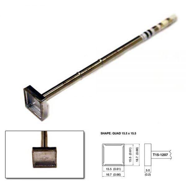 T15-1207 SMD Quad Soldering Tip 15.5mm x 15.5mm x 6.5mm