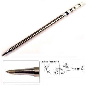 T15-BC12 Bevel Soldering Tip 1.2mm/60°x 15mm