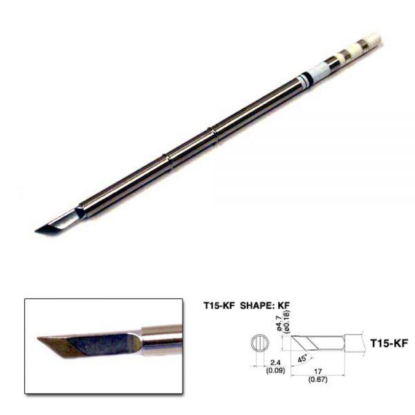 T15-KF Knife Soldering Tip 4.7mm  /45° x 17mm