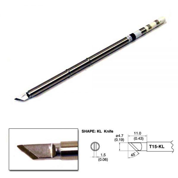 T15-KL Knife Soldering Tip 4.7mm  /45° x 11mm