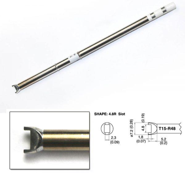 T15-R48 Slot Soldering Tip 4.8mm x 1.8mm