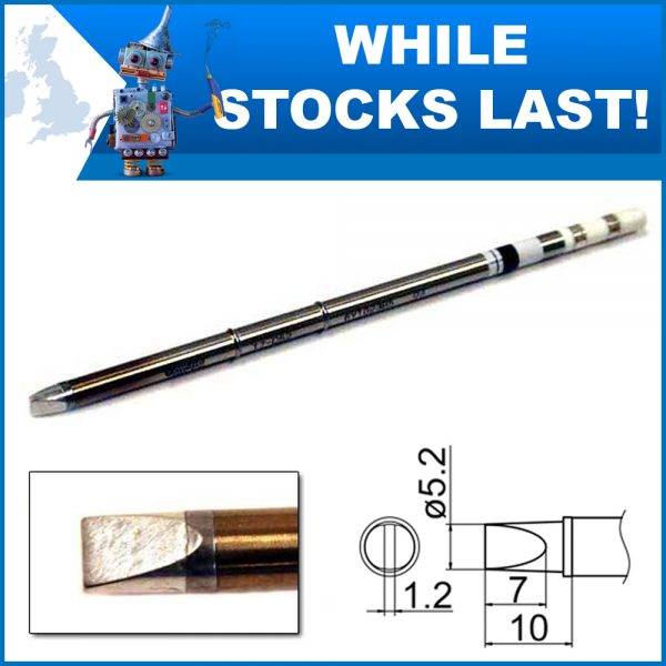 T15-WD52 Composite Heavy Duty Chisel Soldering Tip  5.2mm x 7mm x 10mm