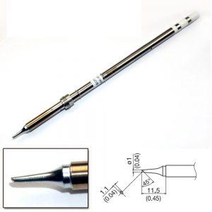 T17-BCF1 Bevel Soldering Tip 1mm/45° x 11.5mm