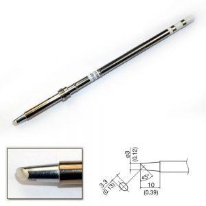 T17-BCF3 Bevel Soldering Tip 3mm/45° x 10mm
