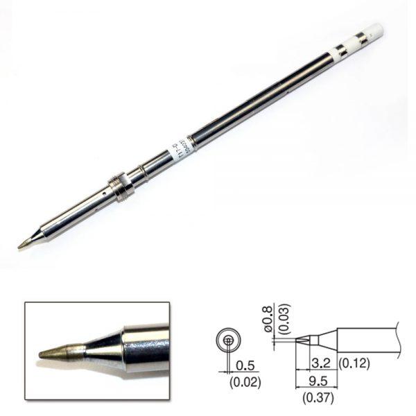 T17-D08 Chisel Soldering Tip 0.8 x 9.5mm