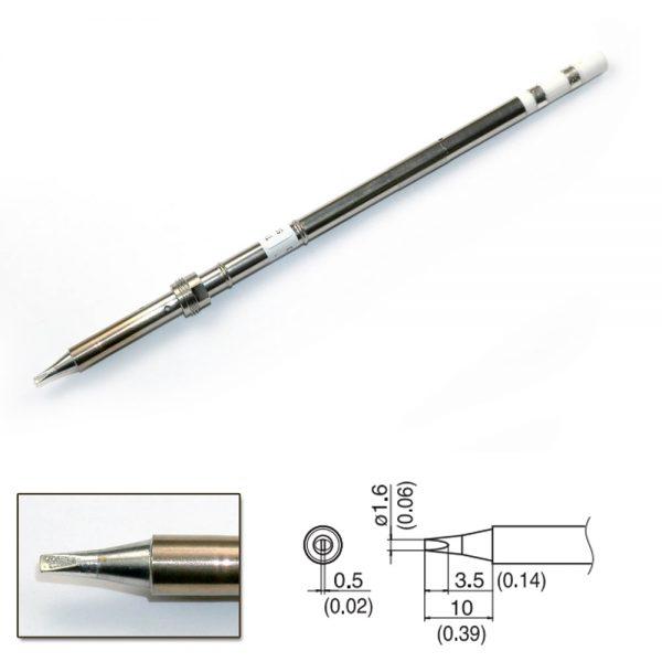 T17-D16 Chisel Soldering Tip 1.6 x 10mm.