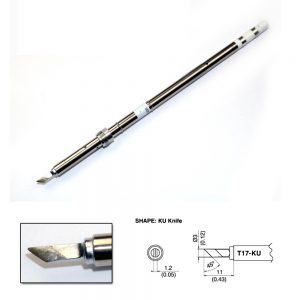 T17-KU Knife Soldering Tip 3mm/45° x 11mm
