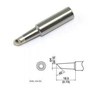 T19-C4 Bevel Soldering Tip 4mm/45° x 18.5mm