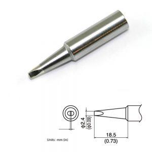 T19-D24 Chisel Soldering Tip 2.4mm x 18.5mm