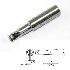 T19-D5 Chisel Soldering Tip 5mm x 18mm
