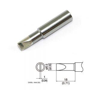 T19-D65 Chisel Soldering Tip 6.5mm x 18mm