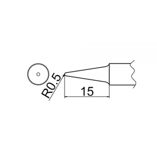 T20-BL2 Conical Soldering Tip R0.5mm x 15mm