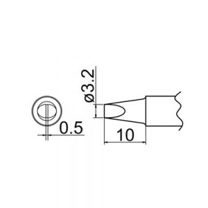T20-D32 Chisel Soldering Tip 3.2mm x 0.5mm x 10